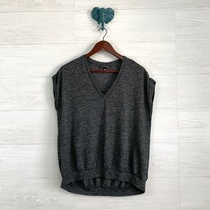 Victorias Secret Heathered Gray Boxy Fit Top